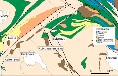 Kalvinit's deposits in Kälviä.